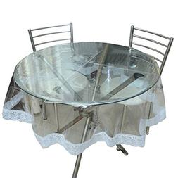 Jenylinen's Beautiful Crystal Clear Table Cover with White L