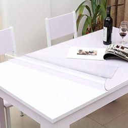 Crystal Table Cover Protector 28 x 48 Inch Waterproof PVC Pr
