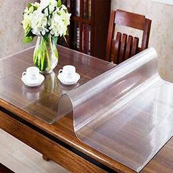 OstepDecor Custom 1.5mm Thick Frosted Table Cover for 4 Foot