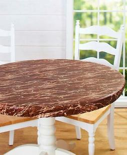 Custom-Fit Round Table Cover -