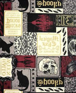 Custom-Fit Seasonal Table Cover - Halloween Gothic Skulls Ra