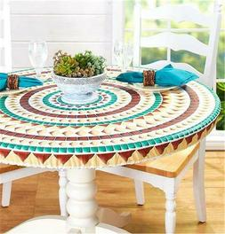 CUSTOM FIT WOOD MARBLE OR MOSAIC PATTERN TABLE COVER FOR OVA