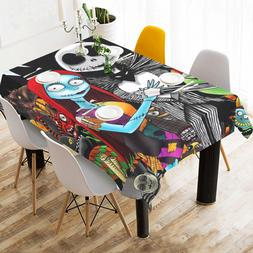 Custom Home Deco Nightmare Before Christmas Tablecloth Cotto