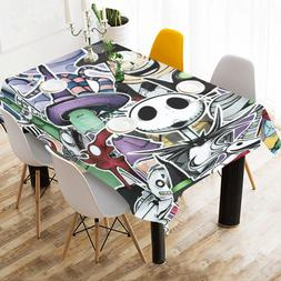 Custom The Nightmare Before Christmas Tablecloth Cotton Line