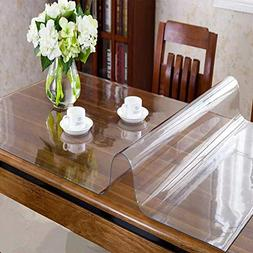 OstepDecor Custom 1.5mm Thick Crystal Clear Dining Room Tabl