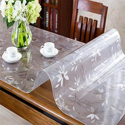 OstepDecor Custom 1.5mm Thick Floral Table Protector for Din