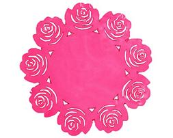 Cute Place Mats Insulation Mats-Rose-Set Of Four