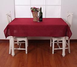 Deconovo Decorative Solid Color Table Cover Faux Linen Table