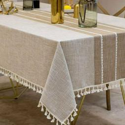 Decorative Table Cloth Cotton Linen Lace Tablecloth Kitchen