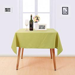 Deconovo Decorative Water Resistant Table Cover Solid Oxford