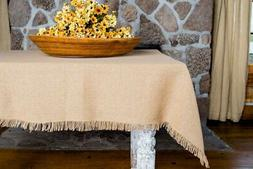 """Deluxe Burlap Natural Tan Table Topper Tablecloth 40x40"""""""