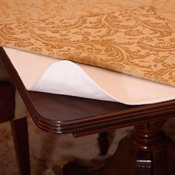 """Violet Linen Deluxe Heavy Duty Cushioned Table Pad, 52"""""""