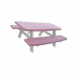 LAMINET Deluxe Picnic Table Cover -  - Red
