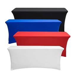 Deluxe Stretch Fit Tablecloths 6 Foot Custom Logo Available