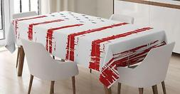 Digital Design Tablecloth by Ambesonne 3 Sizes Rectangular T