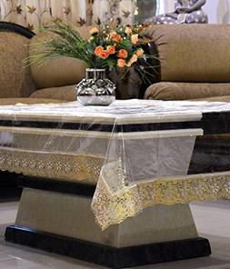 Kuber Industries Dining Table Cover Transparent 6 Seater 60x