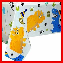 WERNNSAI Dinosaur Party Tablecloth Supplies For Kids Boys B
