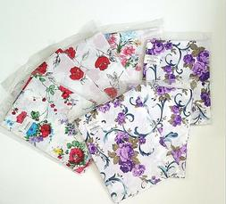 Disposable Party Feast Table Cover Floral Printed 120cm Roun