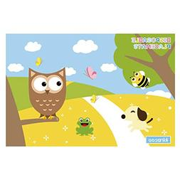 Disposable Placemats Owl Design Extra Adhesive Sticks to Ta