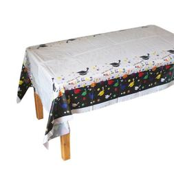Disposable Plastic Tablecloth Doctorial Hat Table Covers Gra