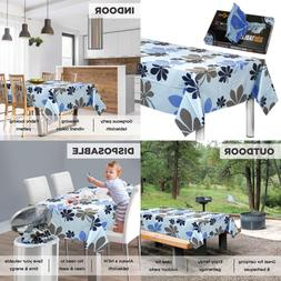 """Disposable Plastic Tablecloths Fully Printed Size 54 X 96"""" 1"""