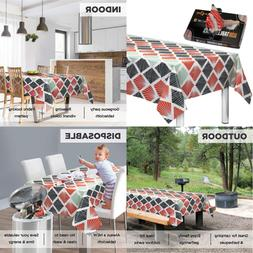 """Disposable Plastic Tablecloths Fully Printed Size 54 X 108"""""""