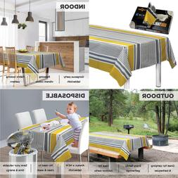"""Disposable Plastic Tablecloths Fully Printed Size 54 X 84"""" 1"""
