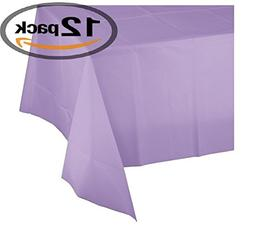 Mountclear 12-Pack Disposable Plastic Tablecloths - 54 x 108