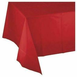 """Mountclear 12-Pack Disposable Plastic Tablecloths 54"""" x 108"""""""