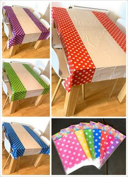 Disposable Polka Dot Table Cover Cloth Plastic PVC Tableclot