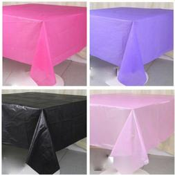 Disposable Tablecloth Plastic Banquet Party Table Cover 54""