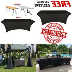 Dj Table Skirt Cover Stretch Scrim Spandex Tablecloth Facade