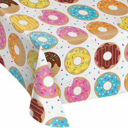 Donut Time Birthday Party Supplies Table Cover