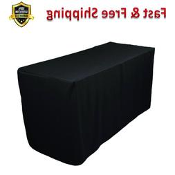 Double Knit Table Cover 4 Ft Heavy Duty Polyester Hemmed Edg