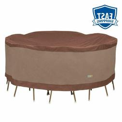 Duck Covers Ultimate Round Patio Table With Chairs Cover, 10