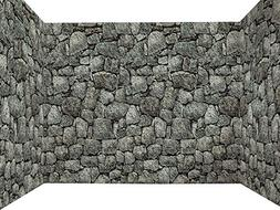 Dungeon Stone Wall 100 Foot Backdrop Halloween Party Decorat