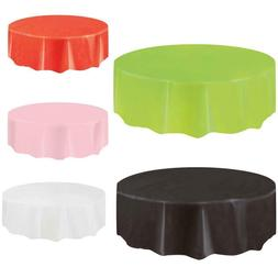 Durable Disposable Solid Round Waterproof Party Plastic Tabl