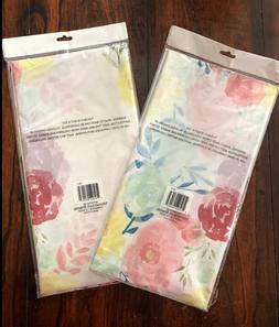 EASTER SPRING FLOWERS TABLE COVER DECORATIONS Set of 2