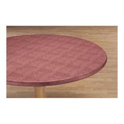 Elastic Edge Rose Felt Vinyl Table Cover Flannel backing Fit