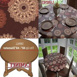 Elastic Fitted Table Cover Medallion SMALL Round Fits Tables