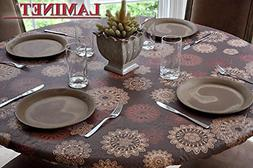 """45""""-56""""Dia Round Table Vinyl Tablecloth Elastic Fitted Cover"""