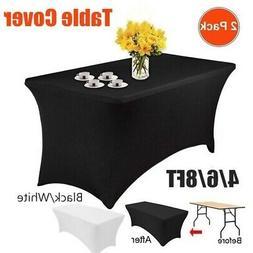 Elastic Rectangular Spandex Lycra Stretch Table Cover Tight