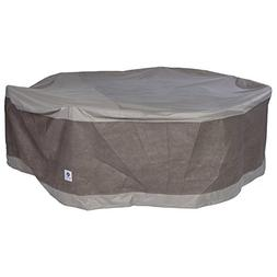 Duck Covers Elegant Round Patio Table with Chairs Cover, 108