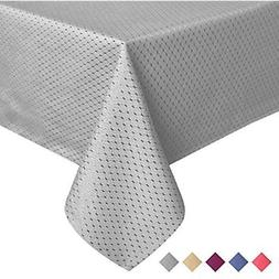 ColorBird Elegant Waffle Jacquard Tablecloth Waterproof Tabl