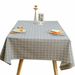 YASSUN Elegant Waterproof Tablecloth Dust-Proof Table Cover