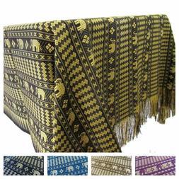 Elephant Tablecloth Decorative Thai Rectangle Fabric Reversi
