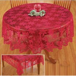 Embossed Lace Tablecloth Table Cover Round Rectangle Wedding