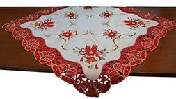 EcoSol Designs Embroidered Christmas Bells  Table Cover/Topp