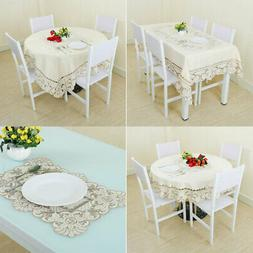 Embroidered Tablecloth Rectangle Tables Covers Cloth Runner
