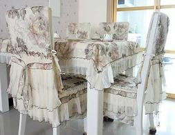 embroidery floral tablecloth premium quality chiffon dinning